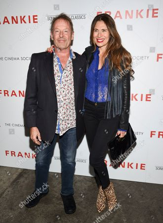 """Simon Kirke, Maria Kirke. Drummer Simon Kirke, left, and wife Maria Kirke attend a special screening of Sony Pictures Classics' """"Frankie"""", hosted by The Cinema Society, at Metrograph, in New York"""