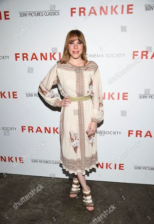 """Emma Myles attends a special screening of Sony Pictures Classics' """"Frankie"""", hosted by The Cinema Society, at Metrograph, in New York"""