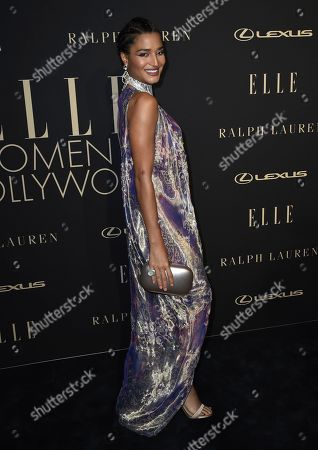 Indya Moore arrives at the 26th annual ELLE Women in Hollywood Celebration at the Four Seasons Hotel, in Los Angeles