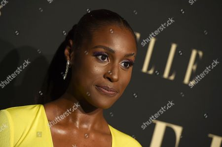Issa Rae arrives at the 26th annual ELLE Women in Hollywood Celebration at the Four Seasons Hotel, in Los Angeles