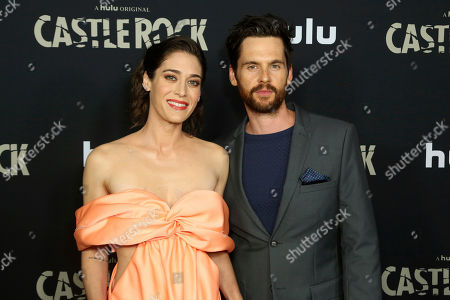 "Lizzy Caplan, Tom Riley. Lizzy Caplan, left, and Tom Riley attend the LA Premiere of Hulu's ""Castle Rock"" Season 2, in West Hollywood, Calif"