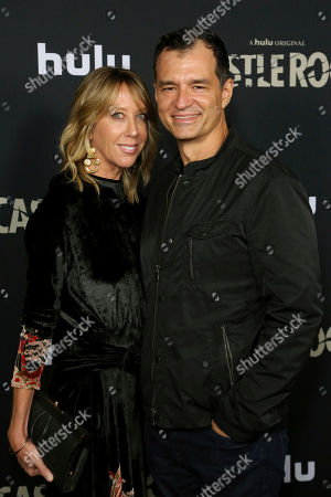 """Stock Photo of Greg Yaitanes, Eve Somer. Eve Somer, left, and Greg Yaitanes attend the LA Premiere of Hulu's """"Castle Rock"""" Season 2, in West Hollywood, Calif"""