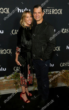"""Greg Yaitanes, Eve Somer. Eve Somer, left, and Greg Yaitanes attend the LA Premiere of Hulu's """"Castle Rock"""" Season 2, in West Hollywood, Calif"""