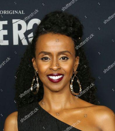 """Yusra Warsama attends the LA Premiere of Hulu's """"Castle Rock"""" Season 2, in West Hollywood, Calif"""