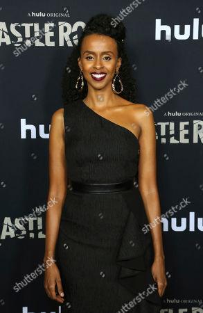 "Stock Photo of Yusra Warsama attends the LA Premiere of Hulu's ""Castle Rock"" Season 2, in West Hollywood, Calif"
