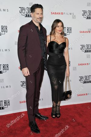 "Stock Photo of Joe Manganiello, Sofia Vergara. Joe Manganiello, left, and Sofia Vergara attend a special Screening of ""Jay and Silent Bob Reboot"" at the TCL Chinese Theatre, in Los Angeles"