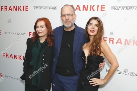 Isabelle Huppert, Ira Sachs and Marisa Tomei