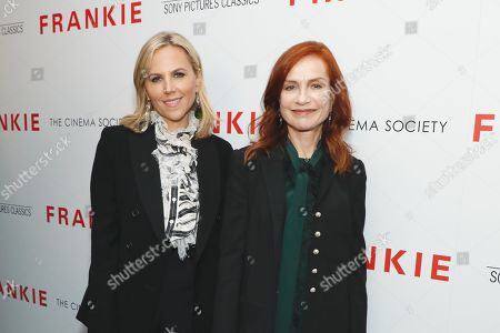 Tory Burch and Isabelle Huppert