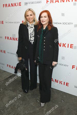 Stock Image of Tory Burch and Isabelle Huppert