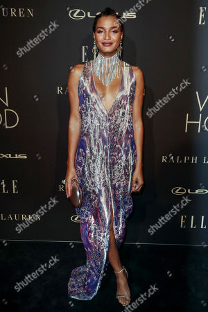 Indya Moore poses on the red carpet during the 26th Annual ELLE Women in Hollywood Celebration, Beverly Hills, California, USA, 14 October 2019.