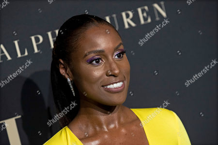 Issa Rae poses on the red carpet during the 26th Annual ELLE Women in Hollywood Celebration, Beverly Hills, California, USA, 14 October 2019.