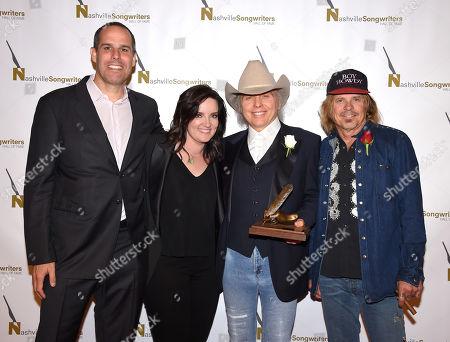 Stock Image of Cameron Strang, Brandy Clark, Dwight Yoakam and Jeffrey Steele