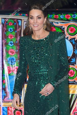 Catherine Duchess of Cambridge during a reception hosted by the British High Commissioner to Pakistan in Islamabad