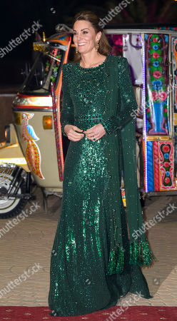 Stock Picture of Catherine Duchess of Cambridge during a reception hosted by the British High Commissioner to Pakistan in Islamabad