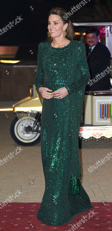 Stock Image of Catherine Duchess of Cambridge during a reception hosted by the British High Commissioner to Pakistan in Islamabad