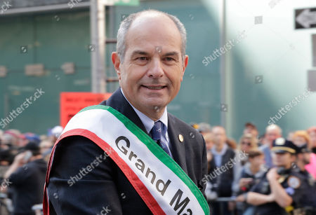 Stock Image of Grand Marshal Massimo Ferragamo in Fifth Avenue in New York City during the annual Columbus Day parade
