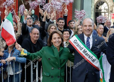 Grand Marshal Massimo Ferragamo in Fifth Avenue in New York City during the annual Columbus Day parade