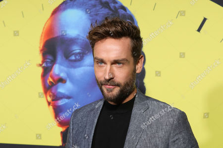 """Tom Mison attends the """"Watchmen"""" premiere at the Cinerama Dome on in Los Angeles"""