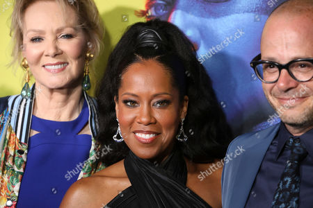 "Jean Smart, Regina King, Damon Lindelof. Jean Smart, on left, Regina King, Damon Lindelof attend the ""Watchmen"" premiere at the Cinerama Dome on in Los Angeles"