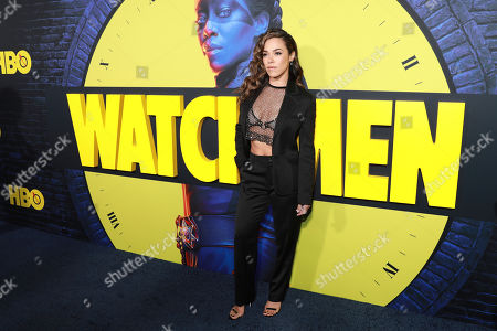 """Jessica Camacho attends the """"Watchmen"""" premiere at the Cinerama Dome on in Los Angeles"""