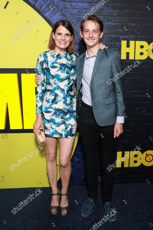 """Suzanne Cryer, Charlie Cryer. Suzanne Cryer and Charlie Cryer attend the """"Watchmen"""" premiere at the Cinerama Dome on in Los Angeles"""