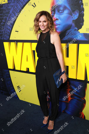 "Amy Brenneman attends the ""Watchmen"" premiere at the Cinerama Dome on in Los Angeles"