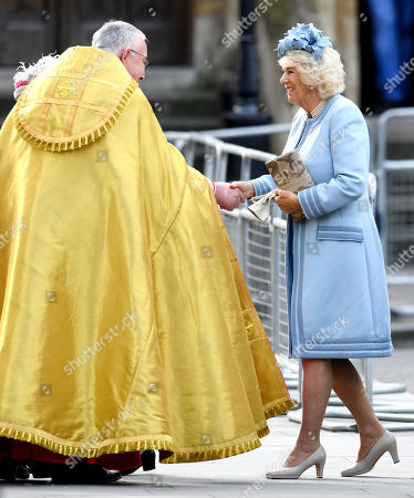 The Very Reverend John Hall and Camilla Duchess of Cornwall