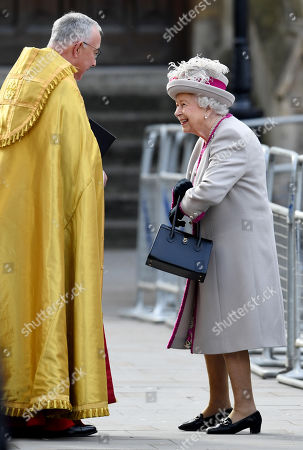 Stock Photo of The Very Reverend John Hall and Queen Elizabeth II