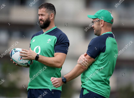 Stock Image of Defence coach Andy Farrell and scrum coach Greg Feek
