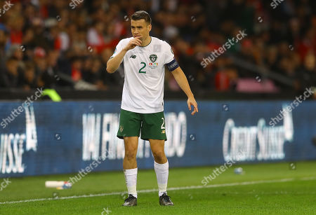Stock Image of Seamus Coleman of Republic of Ireland shows a look of dejection