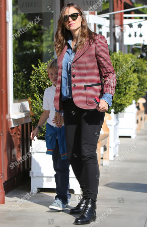 Editorial picture of Jennifer Garner and son Samuel Affleck out and about, Los Angeles, USA - 14 Oct 2019