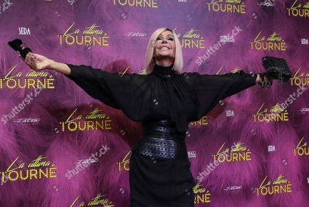 Bibiana Fernandez poses during the presentation of the play 'La Ultima Tourne' (lit. the last tournee) in Madrid, Spain, 15 October 2019. The play will be in theater in Madrid from 14 to 17 November 2019.