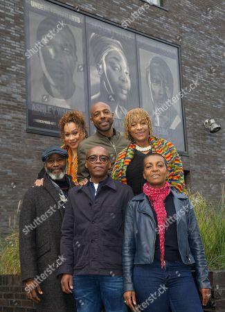 Stock Photo of Back row: Martina Laird, Don Gilet & Dona Croll. Front Row: Patrice Naiambana, Fraser James & Franklyn Rodgers
