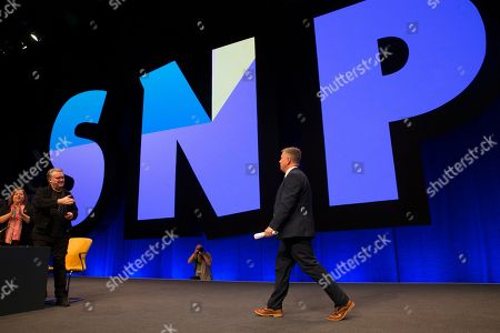 Kirsten Oswald, SNP Business Convener, John Nicolson and Keith Brown, Cabinet Secretary for Economy, Jobs and Fair Work, and Depute Leader of the Scottish National Party (SNP)