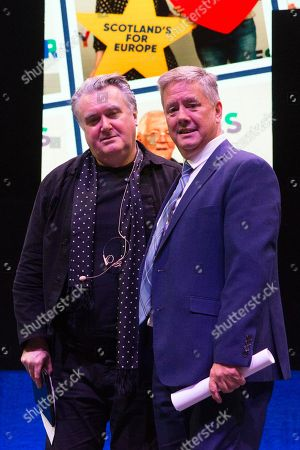 John Nicolson and Keith Brown, Cabinet Secretary for Economy, Jobs and Fair Work, and Depute Leader of the Scottish National Party (SNP)
