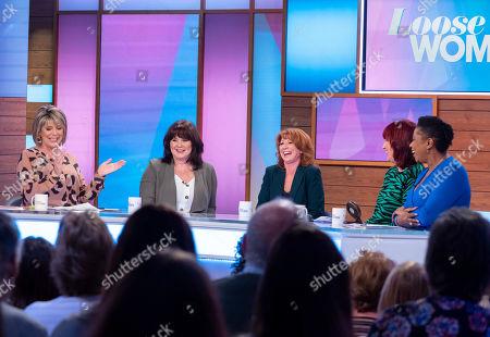 Ruth Langsford, Coleen Nolan, Bonnie Langford, Janet Street-Porter and Brenda Edwards
