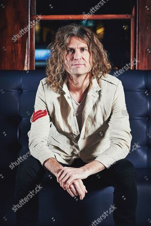 Stock Image of London United Kingdom - December 10: Portrait Of American Musician Dave Keuning Photographed Before A Live Performance At Dingwalls In London On December 10 2018. Keuning Is Best Known As A Guitarist And Founding Member Of Alternative Rock Group The Killers