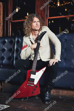 London United Kingdom - December 10: Portrait Of American Musician Dave Keuning Photographed Before A Live Performance At Dingwalls In London On December 10 2018. Keuning Is Best Known As A Guitarist And Founding Member Of Alternative Rock Group The Killers