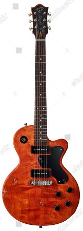 A Ruokangas Unicorn Supersonic Electric Guitar With A Bare Bone Faded Cherry Finish