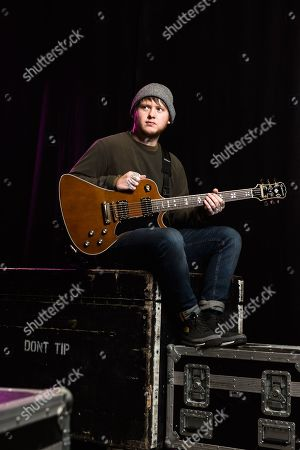 London United Kingdom - November 30: Portrait Of English Musician Lee Malia Guitarist With Hard Rock Group Bring Me The Horizon Photographed Backstage At Alexandra Palace In London On September 30