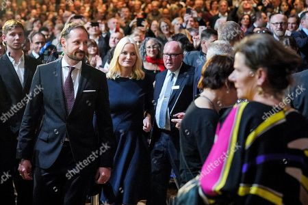 Norwegian Crown Princess Mette-Marit and Crown Prince Haakon arrive for the opening ceremony at the book fair Frankfurter Buchmesse 2019, in Frankfurt am Main, Germany, 15 October 2019. The 71th edition of the international Frankfurt Book Fair, described as the world's most important fair for the print and digital content business, runs from 16 to 20 October and gathers authors, writers and celebrities from all over the world.
