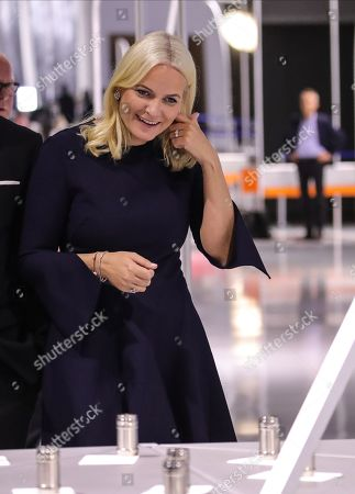 Norwegian Crown Princess Mette-Marit during the official opening of the guest of honor presentation, Norway, at Frankfurt Book Fair 2019 in Frankfurt Main, Germany, 15 October 2019. The 71th edition of the international Frankfurt Book Fair, described as the world's most important fair for the print and digital content business, runs from 16 to 20 October and gathers authors, writers and celebrities from all over the world.