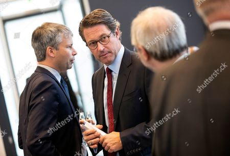 German Transport Minister Andreas Scheuer (C) attends the Christian Democratic Union (CDU) parliamentary group meeting in the German Bundestag, in Berlin, Germany, 15 October 2019. Members of the CDU faction meet ahead of the parliamentary week.