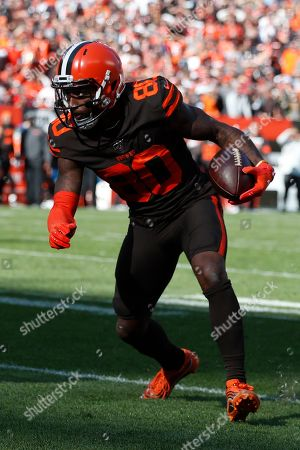 Cleveland Browns wide receiver Jarvis Landry (80) plays against the Seattle Seahawks during the second half of an NFL football game, in Cleveland