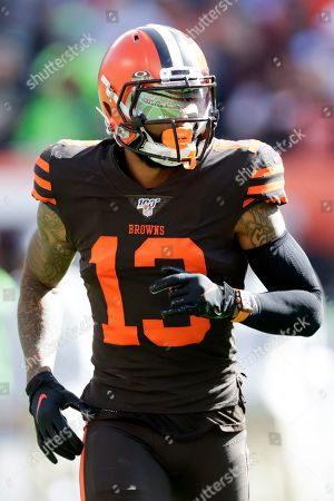 Cleveland Browns wide receiver Odell Beckham Jr. (13) plays against the Seattle Seahawks during the first half of an NFL football game, in Cleveland