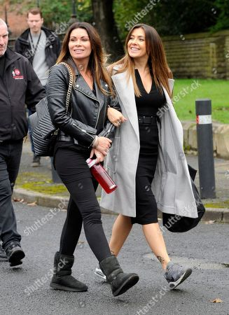 Stock Picture of Alison King and Kym Marsh arrive for filming.
