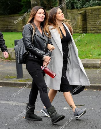 Stock Photo of Alison King and Kym Marsh arrive for filming.