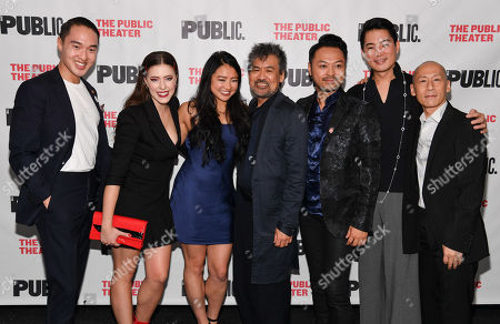 John Yi, Emily Trumble, David Henry Hwang, Emily Stillings, Billy Bustamante, Austin Ku and Francis Jue