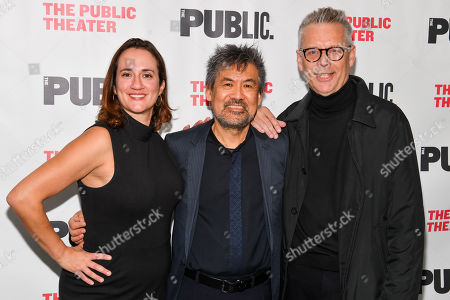 Stock Image of Meghan Pressman, David Henry Hwang and Michael Ritchie