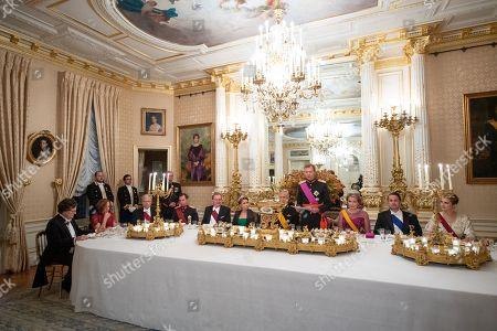 Queen Mathilde, King Philippe, Grand Duke Henri of Luxembourg, Grand Duchess Maria Teresa of Luxembourg, Grand Duchess Stephanie of Luxembourg, Hereditary Grand Duke Guillaume of Luxembourg
